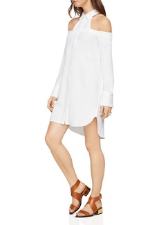BCBGMAXAZRIA Rowan Cold-Shoulder Shirt Dress