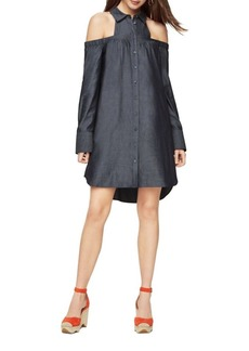 BCBG Max Azria BCBGMAXAZRIA Rowan Cold-Shoulder Shirt Dress
