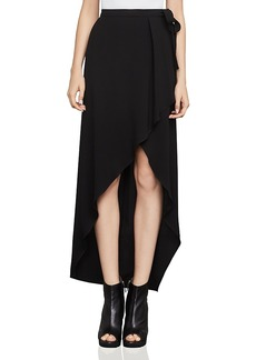 Bcbgmaxazria Roxy Asymmetric Faux-Wrap Skirt