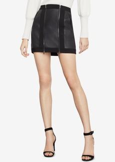 BCBG Max Azria Bcbgmaxazria Roxy Faux-Leather Mini Skirt