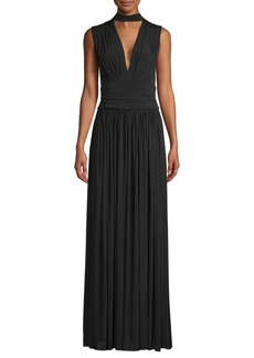 BCBG Max Azria Ruched Evening Gown