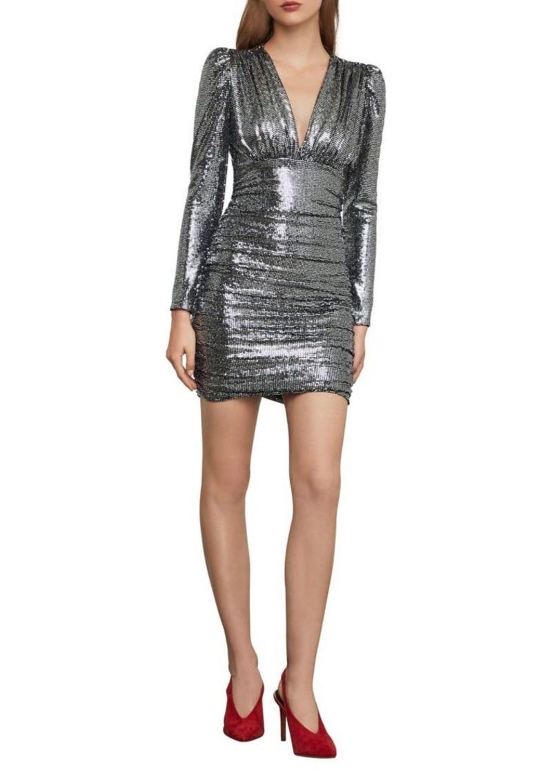 BCBG Max Azria BCBGMAXAZRIA Ruched Metallic Mini Dress