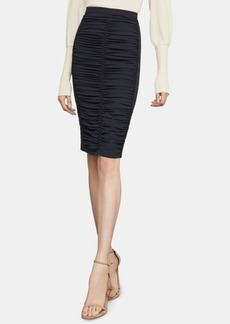 BCBG Max Azria Bcbgmaxazria Ruched Twill Pencil Skirt