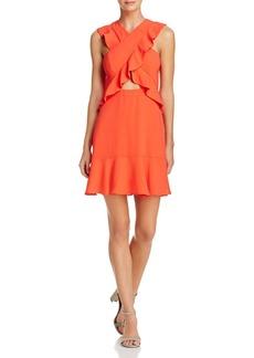 BCBGMAXAZRIA Ruffle Cross-Front Dress