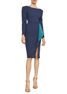BCBG Max Azria BCBGMAXAZRIA Ruffle Drape Sheath Dress