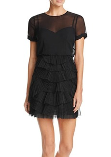 BCBGMAXAZRIA Ruffle Skirt Dress
