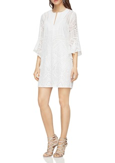 BCBGMAXAZRIA Ruffle-Sleeve A-Line Dress