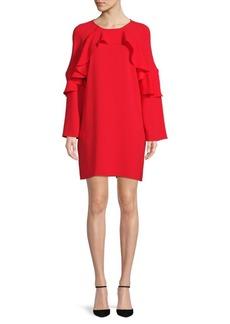BCBGMAXAZRIA Ruffle Sweatshirt Cocktail Dress