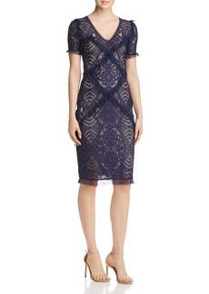 BCBG Max Azria BCBGMAXAZRIA Ruffle-Trimmed Lace Dress