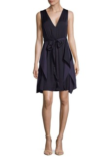 BCBGMAXAZRIA Ruffled Cocktail Dress