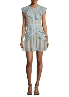 BCBG Max Azria BCBGMAXAZRIA Ruffled Lace Dress