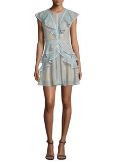 BCBGMAXAZRIA Ruffled Lace Dress