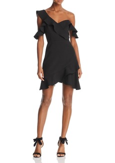 BCBG Max Azria BCBGMAXAZRIA Ruffled One-Shoulder Dress - 100% Exclusive