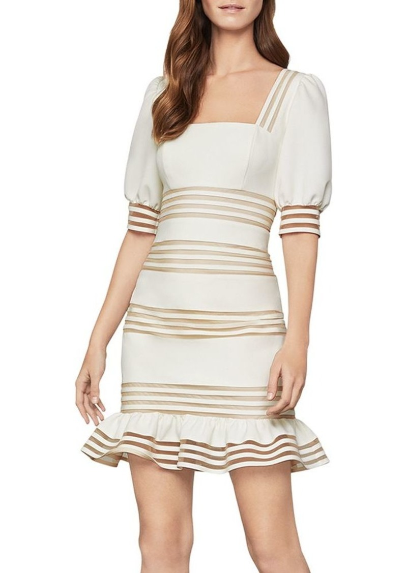 BCBG Max Azria BCBGMAXAZRIA Ruffled Puff-Sleeve Dress