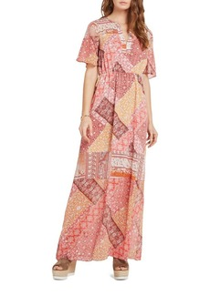 BCBGMAXAZRIA Rug Patchwork-Print Dress