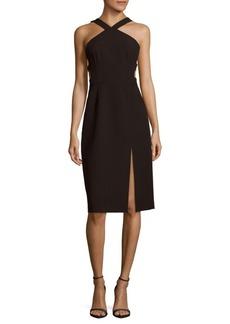 BCBGMAXAZRIA Ruth Solid Slim-Fit Dress