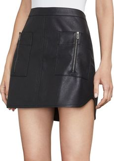 BCBG Max Azria Sabina Knit Faux Leather Mini Skirt