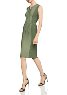 BCBG Max Azria BCBGMAXAZRIA Safari Lace-Up Body-Con Dress