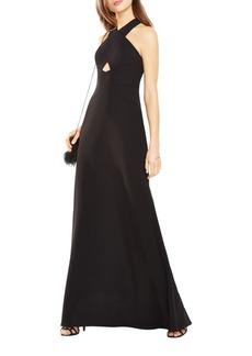 BCBGMAXAZRIA Salome Cutout Halter A-Line Gown