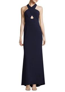 BCBG Max Azria Salome Cutout Halter Gown