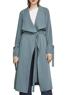 BCBGMAXAZRIA Samara Draped Trench Coat