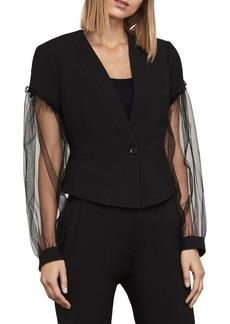 BCBGMAXAZRIA Sandi Sheer-Sleeve Jacket