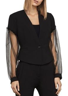 BCBG Max Azria BCBGMAXAZRIA Sandi Tulle-Sleeve Blazer