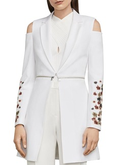 BCBG Max Azria BCBGMAXAZRIA Sandrah Embroidered Cold-Shoulder Blazer