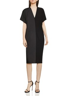 BCBG Max Azria BCBGMAXAZRIA Satin & Jersey Shift Dress