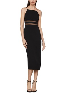 BCBG Max Azria Bcbgmaxazria Satin Crepe Midi Dress