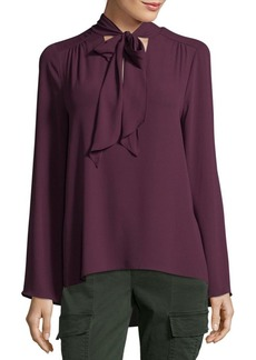BCBG Max Azria Self Tie Collar Blouse