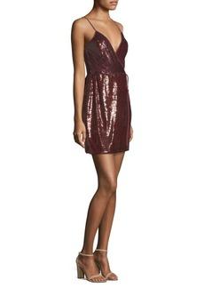 BCBG Max Azria Sequin Knit Evening Wrap Dress