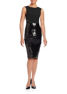 BCBGMAXAZRIA Sequined Lace Dress