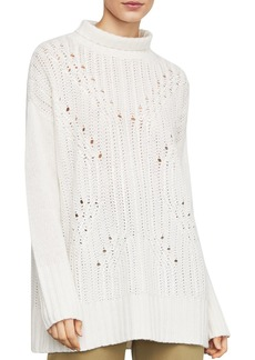 BCBG Max Azria BCBGMAXAZRIA Sequined Turtleneck Tunic