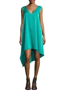 BCBGMAXAZRIA Shana Satin Asymmetrical Dress