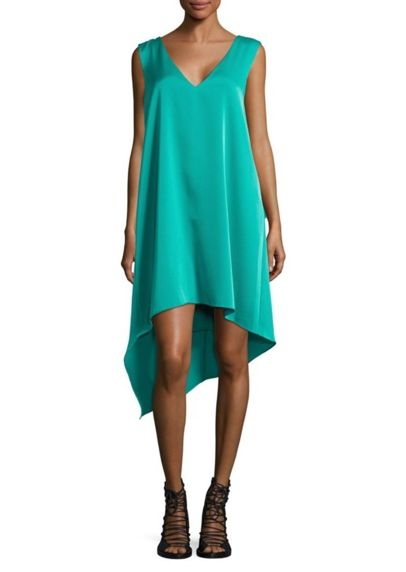 BCBG Max Azria BCBGMAXAZRIA Shana Satin Asymmetrical Dress