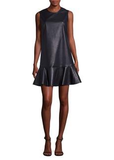 BCBGMAXAZRIA Sheridan Faux Leather Dress