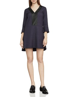 BCBGMAXAZRIA Shirlee Faux-Leather Trim Dress