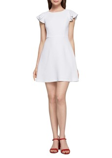 BCBGeneration Short-Sleeve Ruffle Fit and Flare Dress