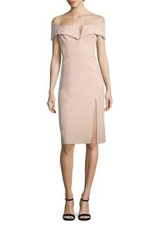 Short Sleeve Split V-Neck Dress
