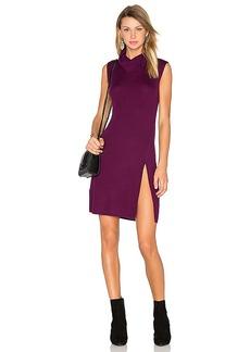BCBGMAXAZRIA Side Slit Sweater Dress in Purple. - size L (also in M,S)