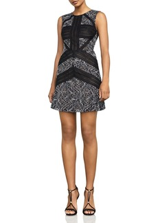 BCBGMAXAZRIA Sleeveless Banded Lace Dress