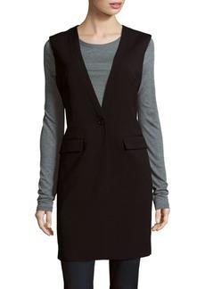 BCBGMAXAZRIA Sleeveless Button Front Vest
