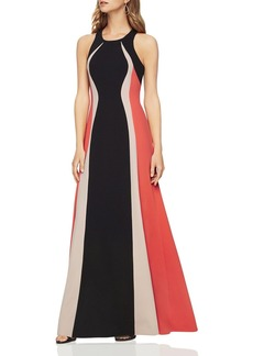 BCBGMAXAZRIA Sleeveless Color-Block Gown