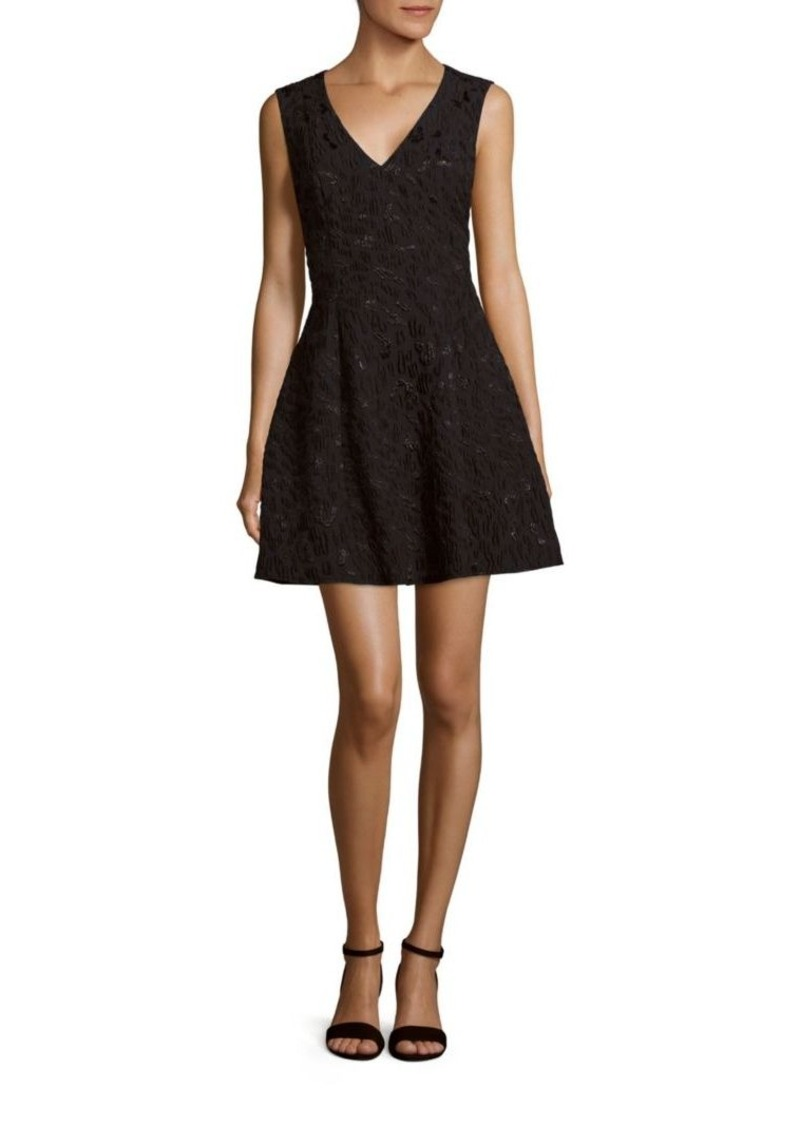 BCBG Max Azria BCBGMAXAZRIA Sleeveless Embroidered A-Line Dress