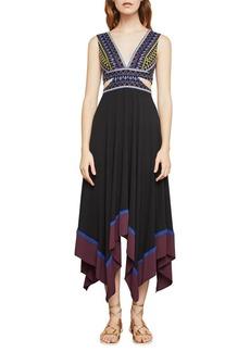 BCBG Max Azria BCBGMAXAZRIA Sleeveless Embroidered Handkerchief Dress