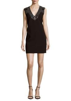 BCBG Max Azria BCBGMAXAZRIA Sleeveless Embroidered Sheath Dress