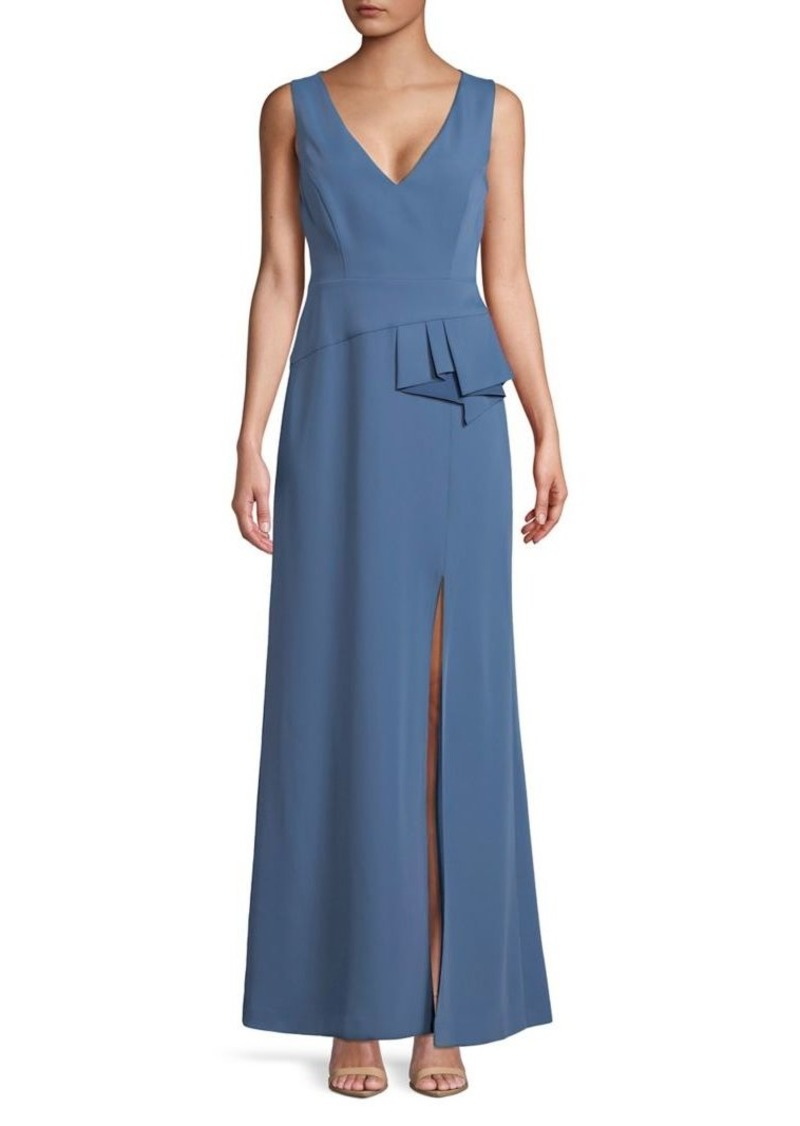 On Sale today! BCBG Max Azria BCBGMAXAZRIA Sleeveless Fola Peplum Gown