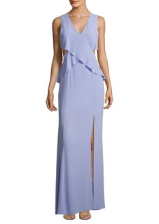 BCBG Max Azria Sleeveless Georgette Gown
