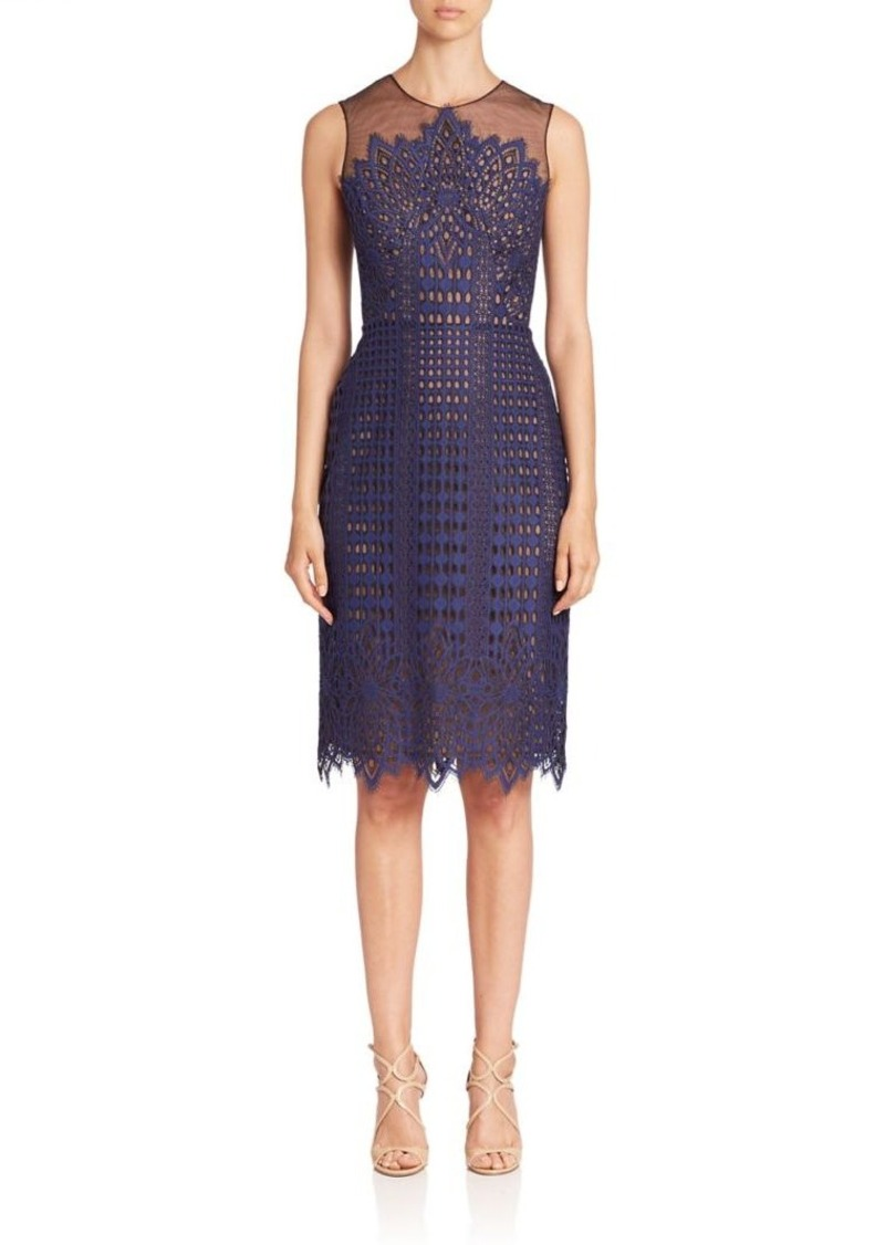 6766842b2c BCBG Max Azria BCBGMAXAZRIA Sleeveless Illusion Neck Lace Dress ...
